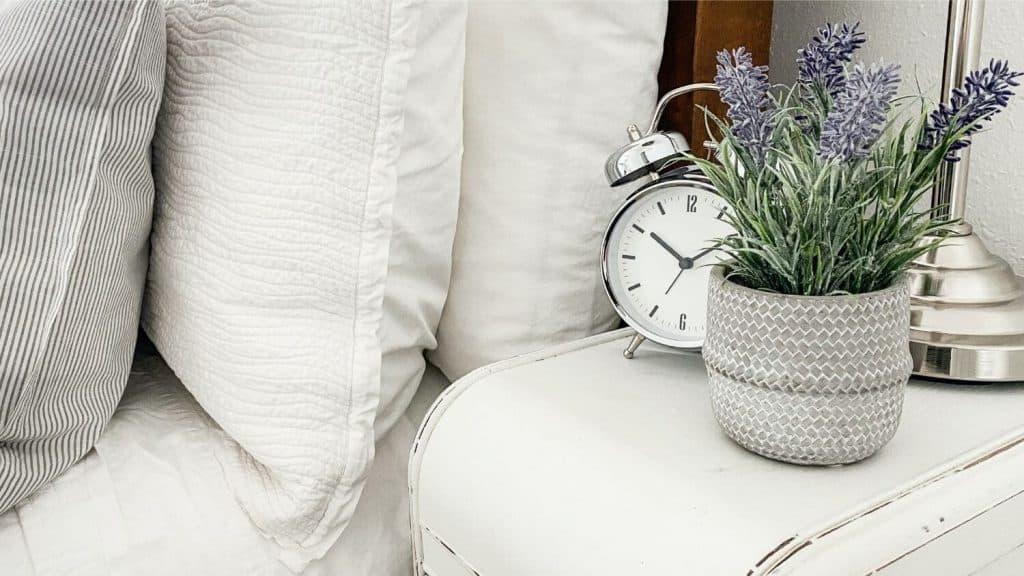 alarm clock bedside table