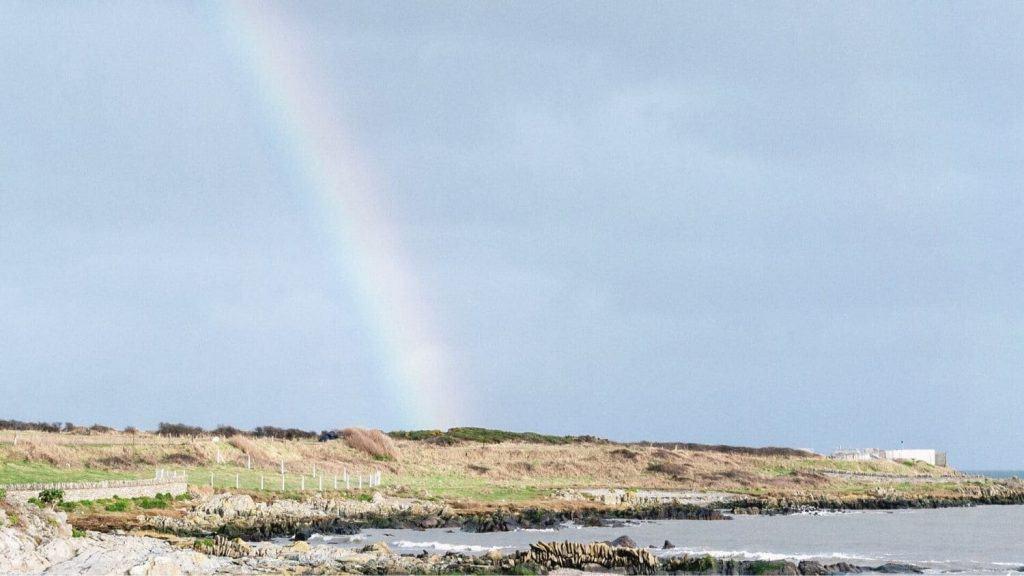 rainbow seaside