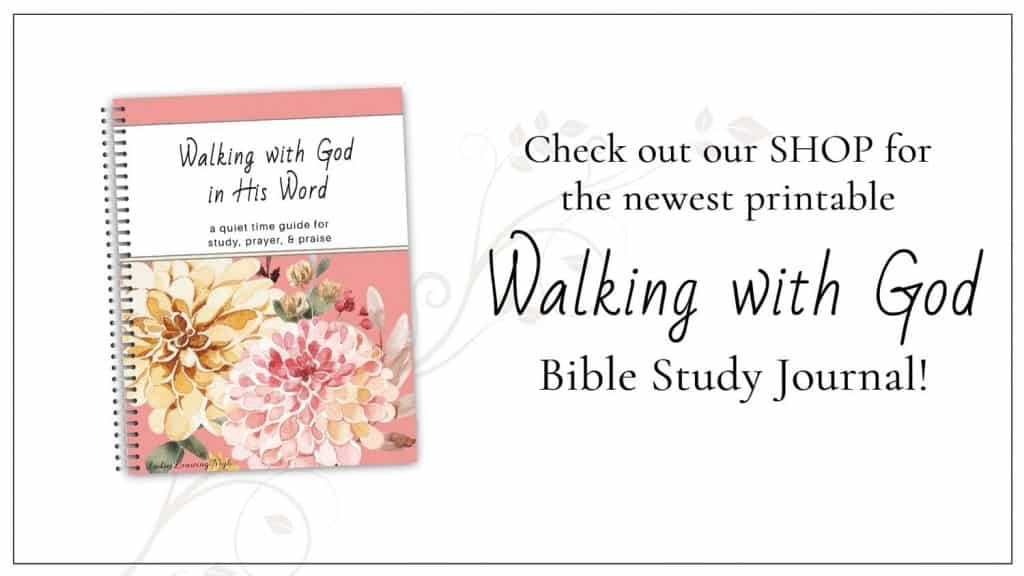 Walking With God Bible Study Journal